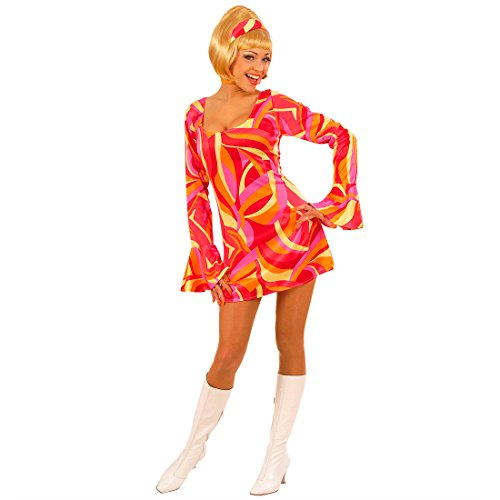 NET TOYS Années 70 Sexy soirée Robe Cocktail Robe de soirée Robe de Cocktail Robe de Carnaval Robe pour déguisement Orange T. L