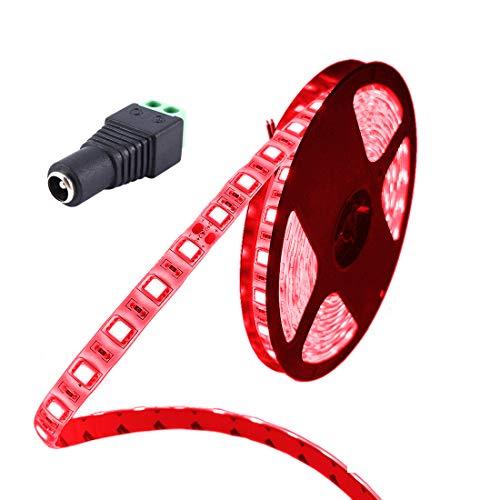 JOYLIT LED Streifen Licht DC 24V Rot Wasserdicht IP65 300 LEDs 5050 SMD 5m LED Leiste Band