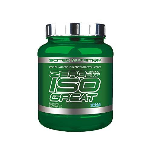 Scitec Nutrition Zero Isogreat, zero sugar/zero fat, aislado de proteína de suero, 900 g, Vainilla ✅