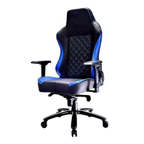Adesign Estilo de carreras de la silla de juego de la oficina PU Silla de ordenador giratorio ergonómico de cuero con reposabrazos, silla de escritorio para el hogar de altura ajustable Asiento cómodo