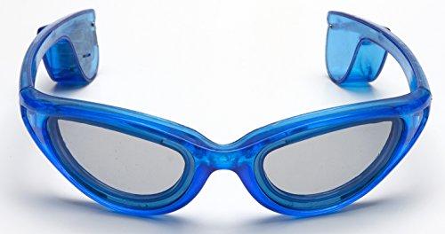 Gafas de sol LED para fiestas, sin cable, estilo femenino, color azul, con 10 luces LED, para fiestas de Carnaval