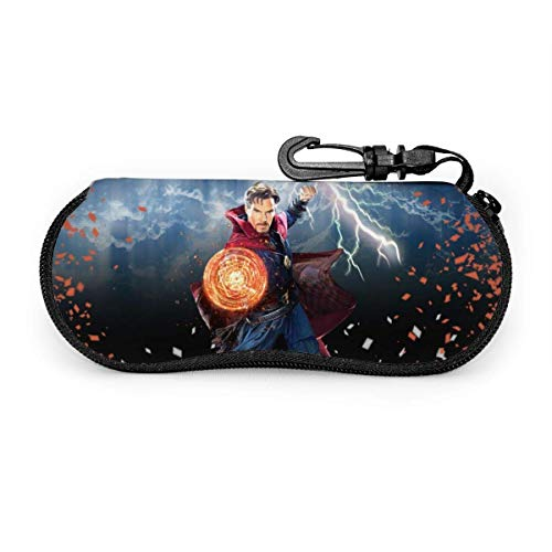 Estuche para gafas de sol Doctor Strange caso ultra suave ligero neopreno cremallera gafas caso con clip para cinturón