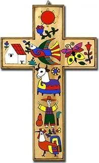 latin american painted crosses