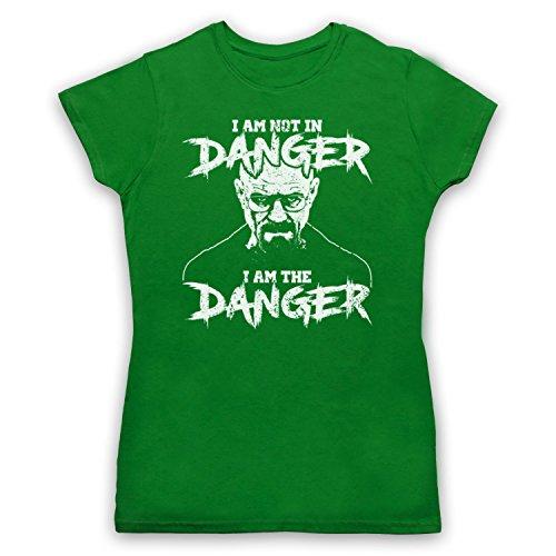 The Guns Of Brixton Breaking Bad I Am Not In Danger I Am The Danger Damen T-Shirt, Grün, Large