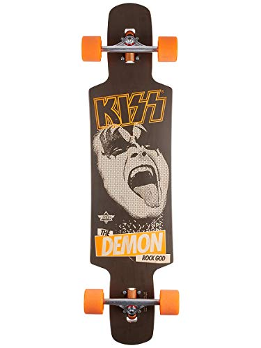 Dusters X KISS Longboard, 96,5 cm, Schwarz/Orange, 38