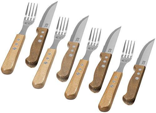 Jamie Oliver Set Posate 8 Pezzi Jumbo 4 coltelli da Bistecca e 4 forchette