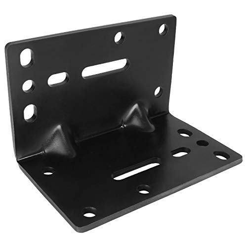 Universal Winch Mount Bracket, Heavy Duty Right Angle Mounting Winch Bracket, 5MM / 3/16INCH Thickness Solid Steel Hand Winch Bracket Winch Mounting Plate for Trailers, ATV, Trucks and Vehicle