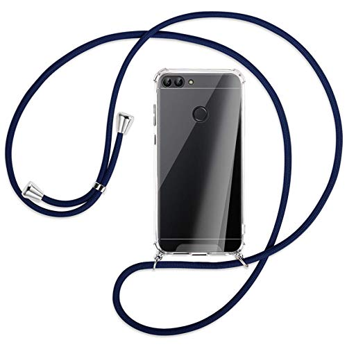 mtb more energy Collar Smartphone para Huawei P Smart (5.65'') - Azul Oscuro - Funda Protectora ponible - Carcasa Anti Shock con Cuerda