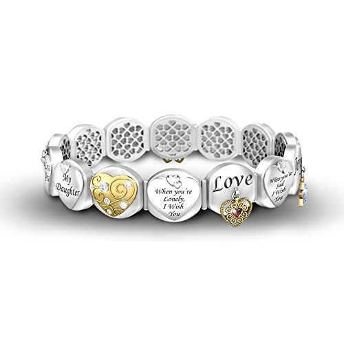 'Loving Wishes For My Daughter' Bracelet By The Bradford Exchange