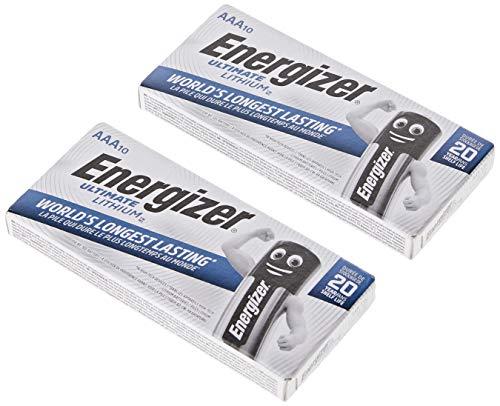 Energizer Ultimate Lot de 20 Piles AAA au Lithium EN-L92-20PK, Gadget & Electronics Store