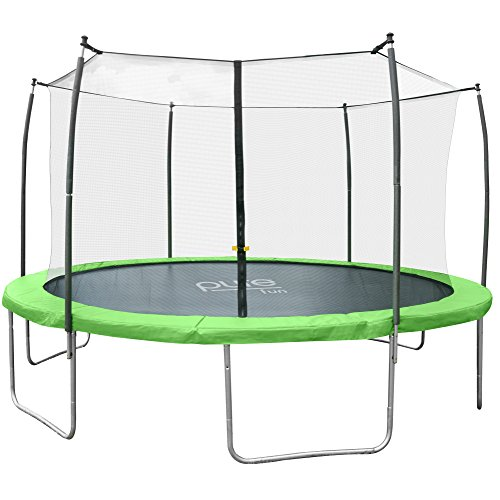 Pure Fun Dura-Bounce 12-Foot Trampoline with Enclosure, Green