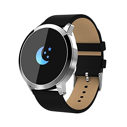 Gymqian Nuevo Q8 Oled Bluetooth Smart Watch Smart Acero Impermeable Impermeable Dispositivo Wearablewatch Reloj de Pulsera Hombres Mujeres Fitness Tracke, C Exquisito/F