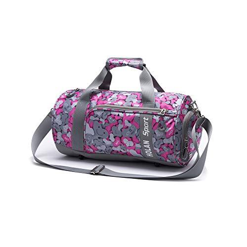 LEIAZ Sports Bag, Gym Bag, Shoulder Fitness Bag Swimming Pool Bag Travel Holiday Strap Sport Bag Cabin Luggage Weekender Overnight Camping Kit,Red7