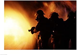 Posterazzi Firefighters During a Rescue Operation Poster Print, (24 x 18)