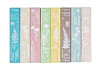 MissOrange『木製ゴム印セット』植物 花 バタフラクリエイティブスタンプセット クラフトカード スクラップブッキング 手帳用8個セットM-92