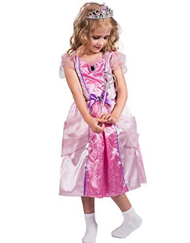 WWSSJD para Niños Princesa de Cuento de Hadas Puesta en Escena Ropa Starlight Fiesta Carnaval Navidad Víspera de Todos los Santos (Rosado),S