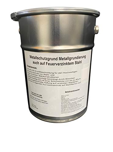 Professionelle Rostschutz Grundierung Metallschutzgrundierung Metallgrund 1 L Dose Metallgrundierung