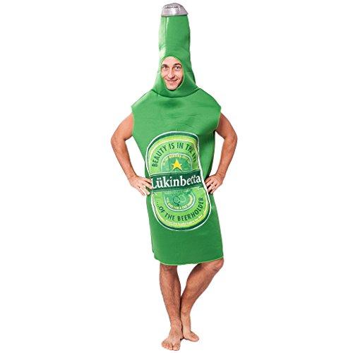EraSpooky Unisex Flaschenkostüm Overall Flasche Anzug Kostüm Bierflasche