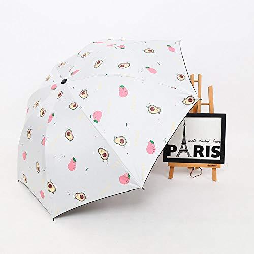 Taschenschirme Regenschirm Dreifach Regenschirm Kreative Kinder Kleinen Dinosaurier Vinyl Regenschirm Regen Und Regenschirm-Avocado-Pulver