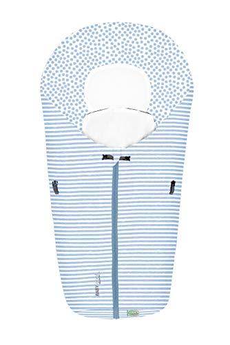 Set Odenwälder BabyNest Fußsack Coolmax & Windel Blaubaer   Sommerfußsack für Babyschale & Babywanne   Fußsack Baby ab Geburt bis 6 Monate   Babyschalenfußsack atmungsaktiv