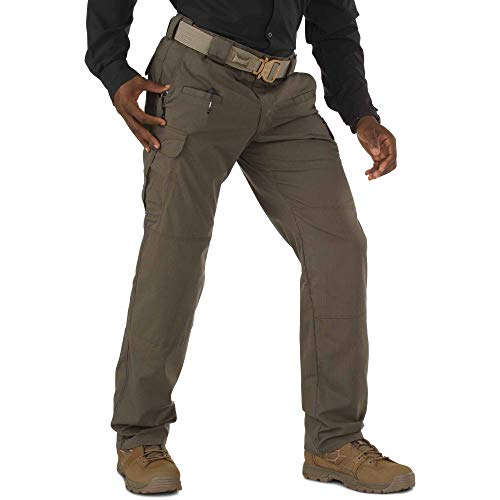 5.11 Tactical Men's Stryke Operator Uniform Pants w/Flex-Tac Mechanical Stretch, Tundra, 36Wx34L, Style 74369
