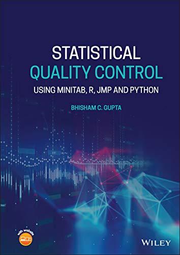 Compare Textbook Prices for Statistical Quality Control: Using MINITAB, R, JMP and Python 1 Edition ISBN 9781119671633 by Gupta, Bhisham C.