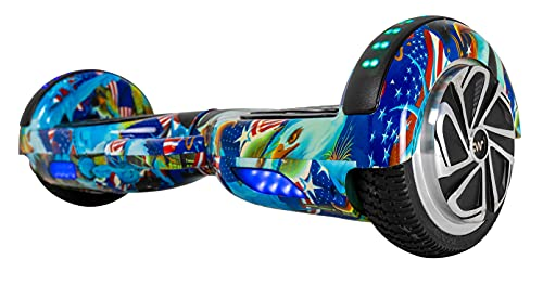 Carrywheels® Hoverboard Self Balancing 6.5 Wheel, Bluetooth, LED on Wheels for Kids & Adults Liberty