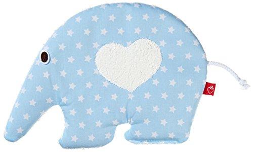 La Fraise Rouge 4251005603574 Wärmekissen mit Rapssamen - Ameisenbär Coquin, blau/weiße Sterne
