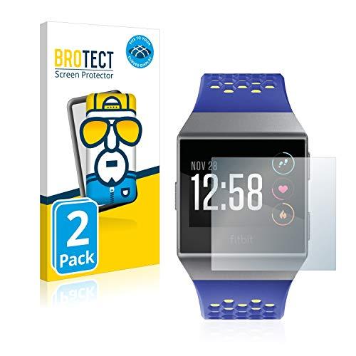 BROTECT Full-Cover Schutzfolie kompatibel mit Fitbit Ionic (2 Stück) - Full-Screen Displayschutz-Folie, 3D Curved, Kristall-Klar