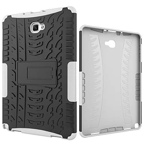 ZHIWEI Tablet PC Bolsas Bandolera Cubierta de Tableta para Samsung Galaxy Tab A 2016 10.1 / P585 / P580 Funda Protectora TPU + PC TPU + PC con Soporte de Mango Plegable (Color : White)