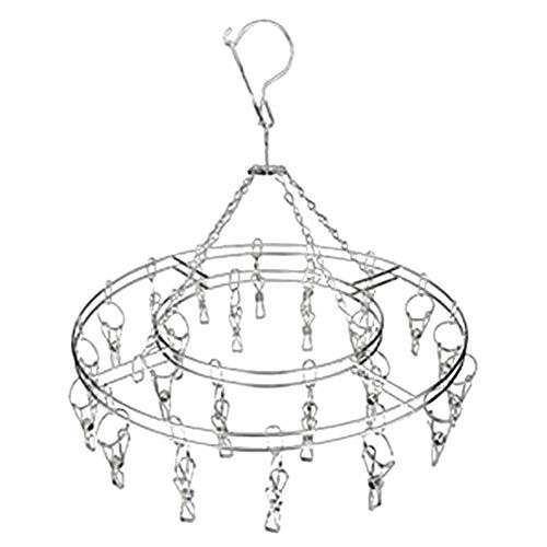 Chutoral Wäschespinne Edelstahl,Wäscheständer Winddicht Sockentrockner Trocknen Gestell Tropfen Aufhänger mit 20 Klammer für Socken Unterwäsche Handtuch Dessous