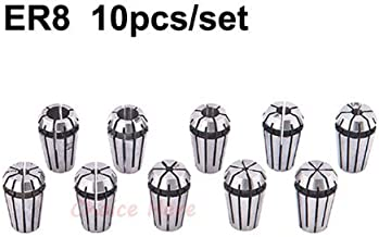10Pcs ER8 Collet Spring Chuck for CNC Spindle Motor Engraving/Grinding/Milling/Boring/Drilling/Tapping
