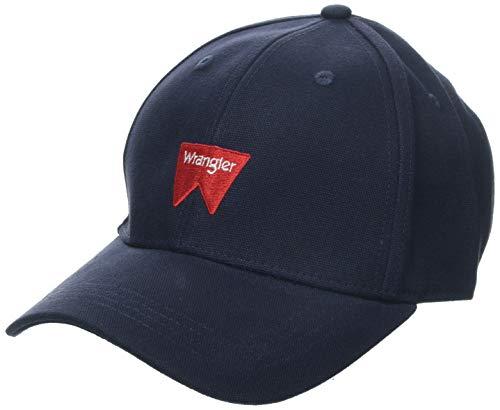 Wrangler Herren Logo Baseball Cap, Blau (Navy 114), One Size (Herstellergröße: OS)