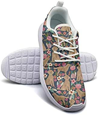 Flowers Florals Dachshund Dog Women Canvas Casual Shoes Sneakers Care Classic Running Shoes