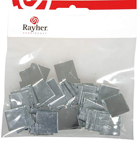 Rayher - 14547606 - Spiegelmosaik, selbstklebend., 2x2cm, SB-Btl 50Stü