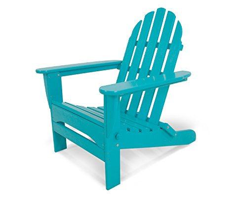 "POLYWOOD AD5030AR Classic Folding Adirondack Chair, Height: 35.00"" – Width: 29″ – Depth: 35.00″, Aruba"