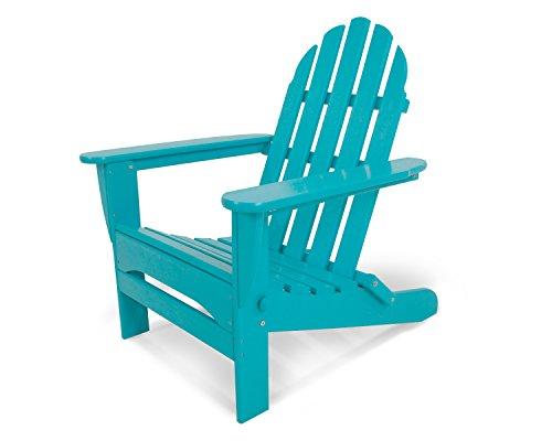 "POLYWOOD AD5030AR Classic Folding Adirondack Chair, Height: 35.00"" - Width: 29"" - Depth: 35.00"", Aruba"