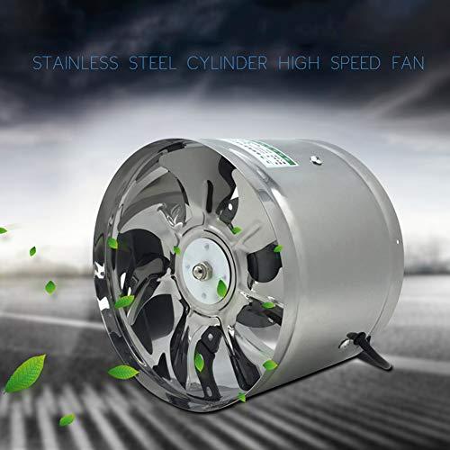 MEILINL Ventilador De Escape De Alta Velocidad De 6 Pulgadas Conducto En Línea Extractor De Cocina Metal Ventilador Industrial 650 M³/H para Baño Inodoro Oficina (6 Pulgadas)