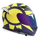 Bluetooth Casco Moto Integral Adultos,Casco Moto Modular Con Función De Respuesta Automática,ECE Certificación Casco Abatible Motocicletta Con Función De Respuesta Automática A,L=59~60CM