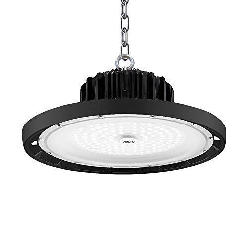 UFO LED Lámpara Alta Bahía,bapro 10000LM Delgada Lámpara Industrial Led luz de techo,6500K blanco frío,Iluminación Comercial Iluminación para Fábricas Industry Tunnel de gimnasio de garaje (100W, 1PC)