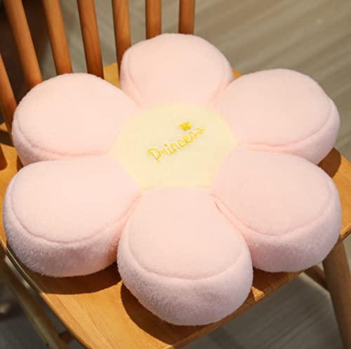 Tekaopuer - Cuscino in peluche a forma di girasole, a forma di fiore, per decorare la camera da letto, 40 cm, 1 pezzo, 8 pezzi