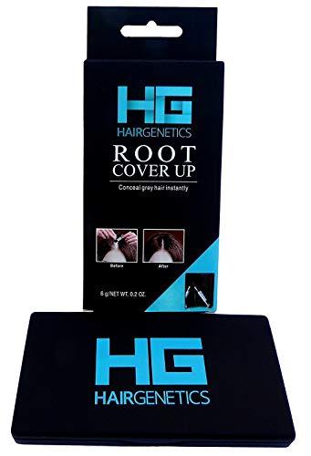 Hair Genetics® Haarwurzel Cover Up ⎮ Verstecken Sie Ihre grauen Haarwurzeln schnelle und einfach professionell und natürlich wirkende Ergebnisse in Sekunden ⎮ Root Touch Up Powder Schwarz
