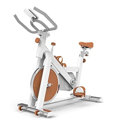 N / B Bicicletas Smart Spinning, Bikess de Ejercicios, Pedales de pérdida de Peso Alta Resistencia Silencio Pequeño tamaño Ciclismo Interior Inicio Equipo de Aptitud, Blanco Naranja