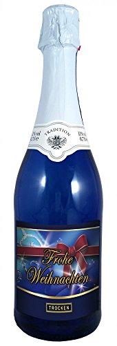 Frohe Weihnachten 0,75l Sekt (Mosel) blaue Flasche