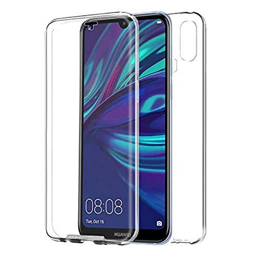 """TBOC Funda para Huawei Y7 (2019) - Y7 Prime (2019) [6.26""""] - Carcasa [Transparente] Completa [Silicona TPU] Doble Cara [360 Grados] Protección Integral Total Delantera Trasera Lateral Móvil Resistente"""