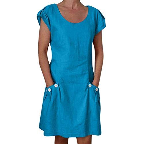 Auifor vrouwen casual feesten gekrulde zakken O-verschuiven dagelijks geknoopte jurken