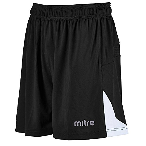 Mitre Kids Prism Football Training Shorts - Blk/Wht N/A
