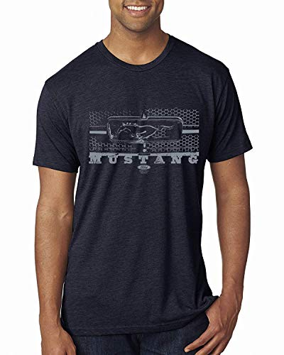 Preisvergleich Produktbild Vintage Ford Mustang Silber Wabengrill Distressed / Herren PKW und LKW Premium Tri Blend T-Shirt L.