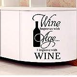 Vinyl Wandaufkleber, Küchenutensilien, Weinbesteck 65 * 41Cm