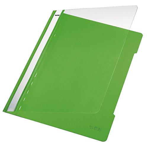Leitz 41910050 Standard Hefter (A4, langes Beschriftungsfeld, PVC) hellgrün